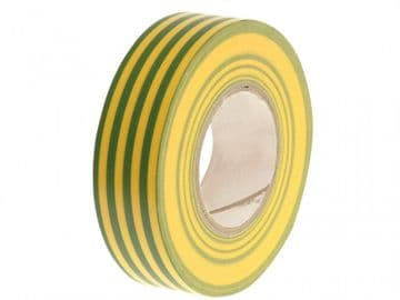 PVC Electricial Tape Green / Yellow 19mm x 20m
